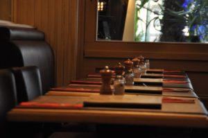 table inside restaurant